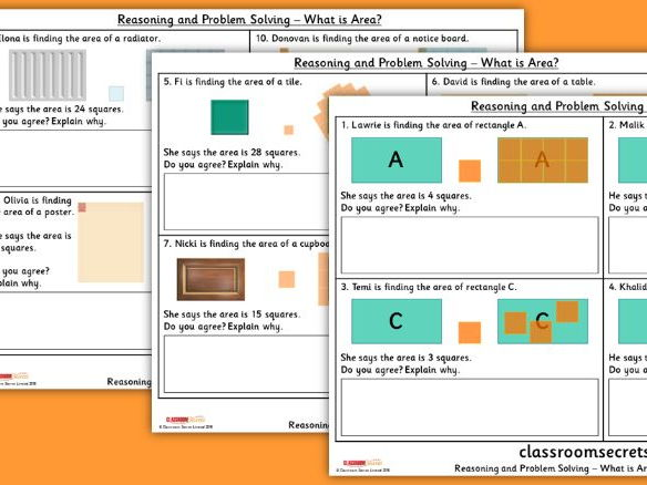 Year 4 What is Area? WRM Spring Block 2 Reasoning and Problem Solving Pack