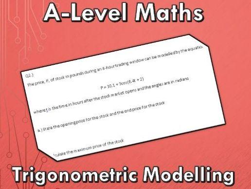 A-Level Maths (2017) Trigonometric Modelling