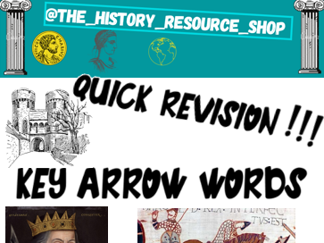 The Normans Key arrow words bookmarks revision.