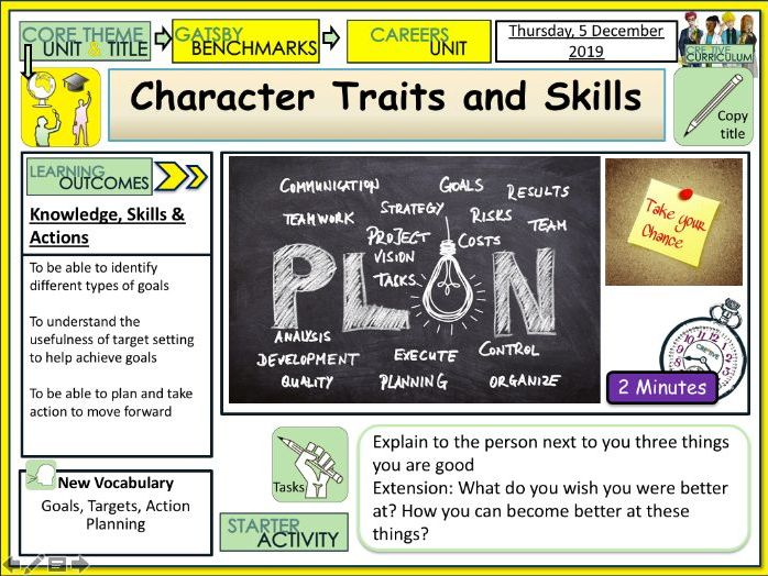 Careers - Character Traits and Skills