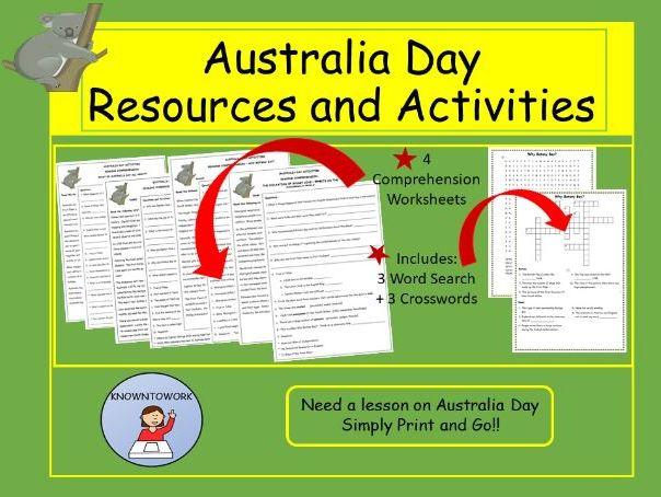 AustraliaDayResourcesandActivitiesMiddletoUpperPrimary