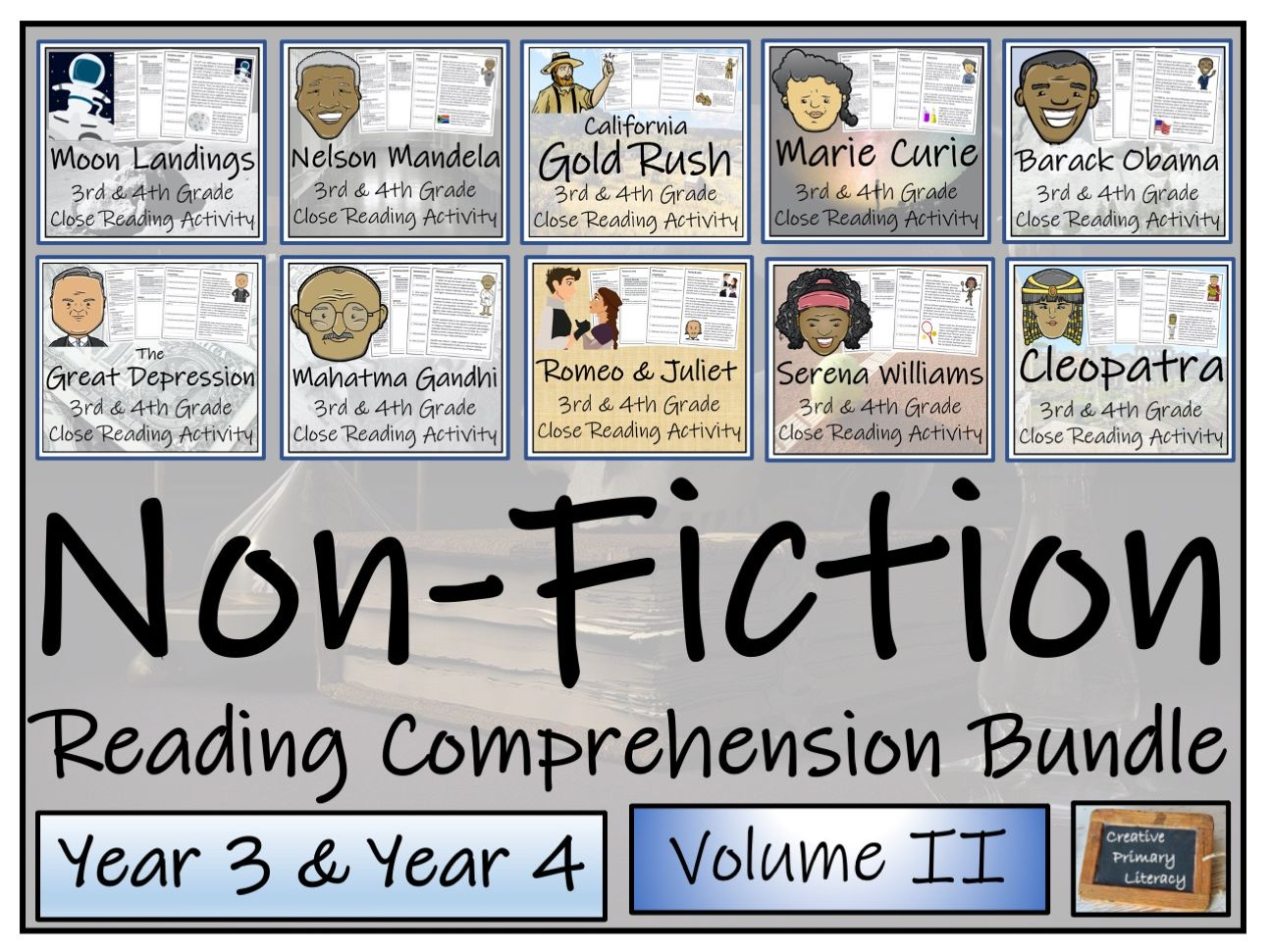 LKS2 Non-Fiction Volume 2 Reading Comprehension Activity Bundle