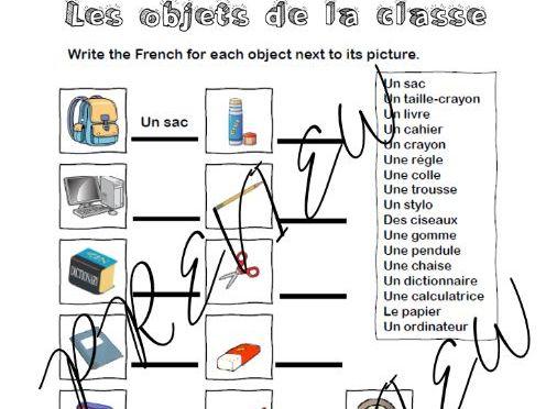 Les objets de la classe - Primary/Yr 7