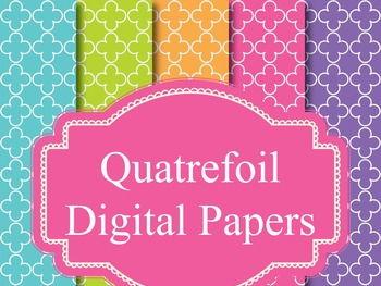 45 Quatrefoil Digital Papers Background Papers