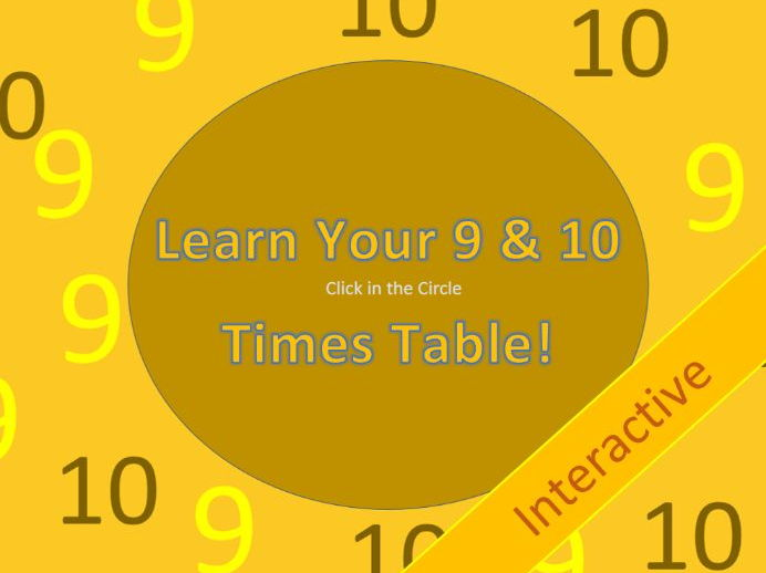 Learn Your 9 & 10 Times Tables
