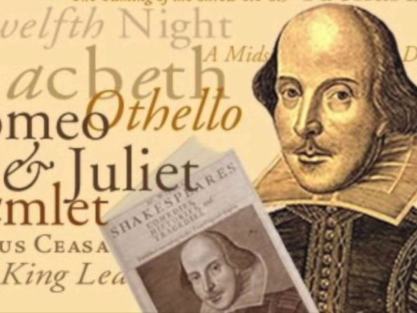 Shakespeare SOW Drama Theatre Macbeth King Lear Romeo Juliet Twelfth Night Taming Shrew As You Like