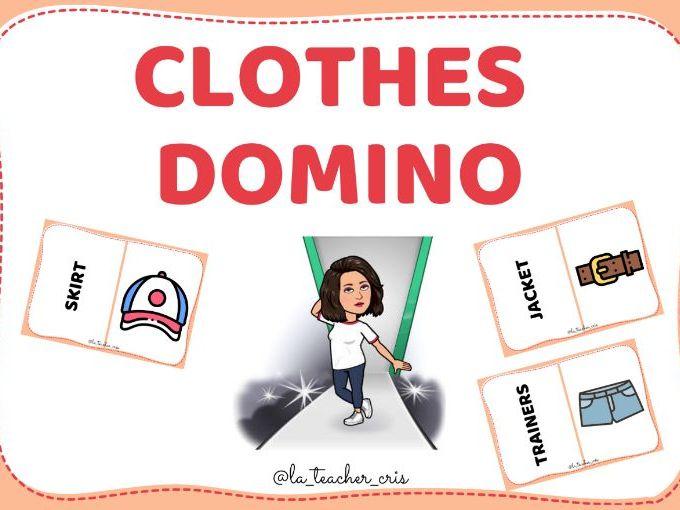 Clothes vocabulary domino