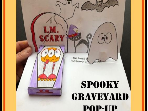 Hallowe'en Crafts - POP-UP Graveyard