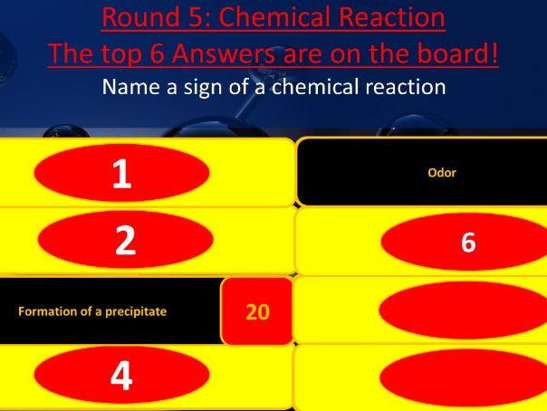 Chemistry Final Review Family Feud Game