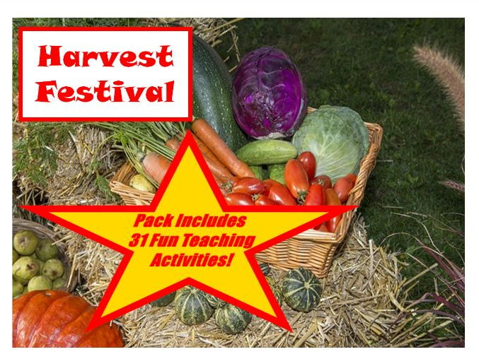 Harvest Festival - PowerPoint and Display + 31 Teaching Activities Teacher Guide For Your Classroom