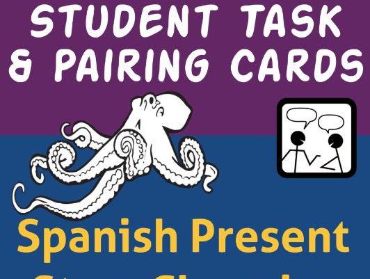Spanish Task Cards and Pairing Cards * Verbos Regulares en el Presente * Para dictados y juegos