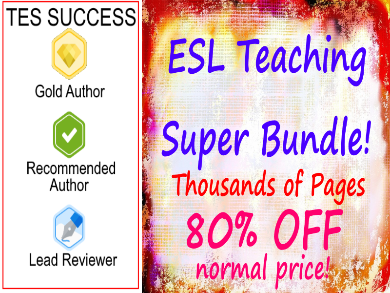 ESL Teaching Pack Bundle