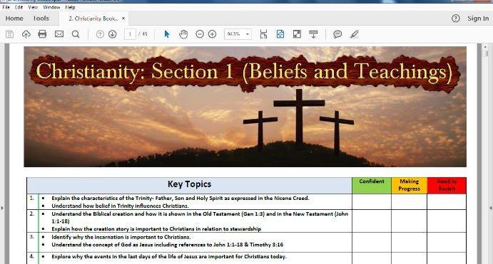 Edexcel Spec B- Section 1: Christian Beliefs & Teachings