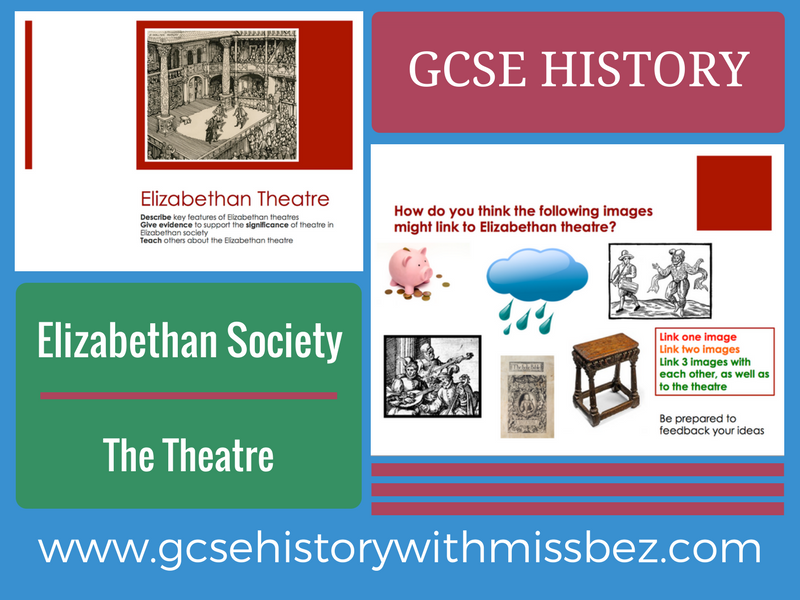 GCSE HISTORY: ELIZABETH I: Elizabethan Society: theatre (all exam boards)