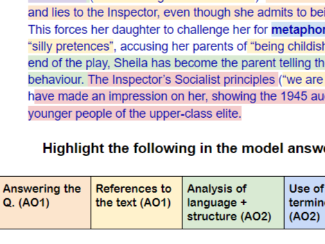 Model Answer 'Old / Young' An Inspector Calls