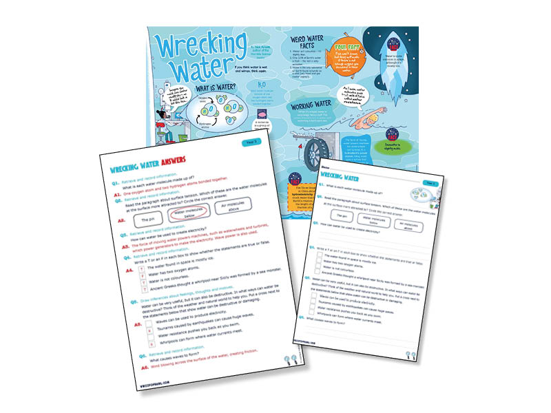 Year 3 Reading comprehension based on water