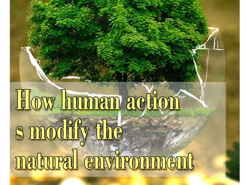 How human actions modify the natural environment