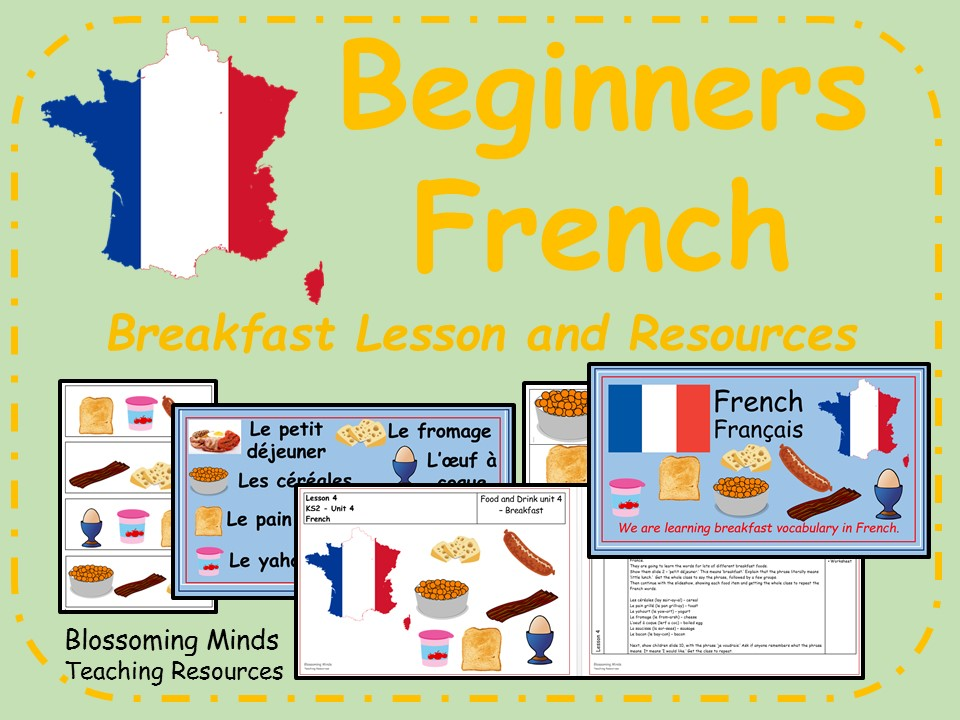 French lesson and resources - KS2 - Breakfast