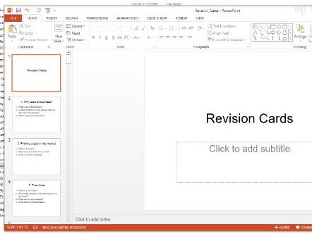 Revision cards for Business AQA GCSE
