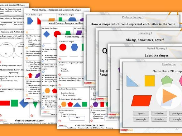 Year 3 Recognise and Describe 2D Shapes Summer Block 3 Step 7 Lesson Pack