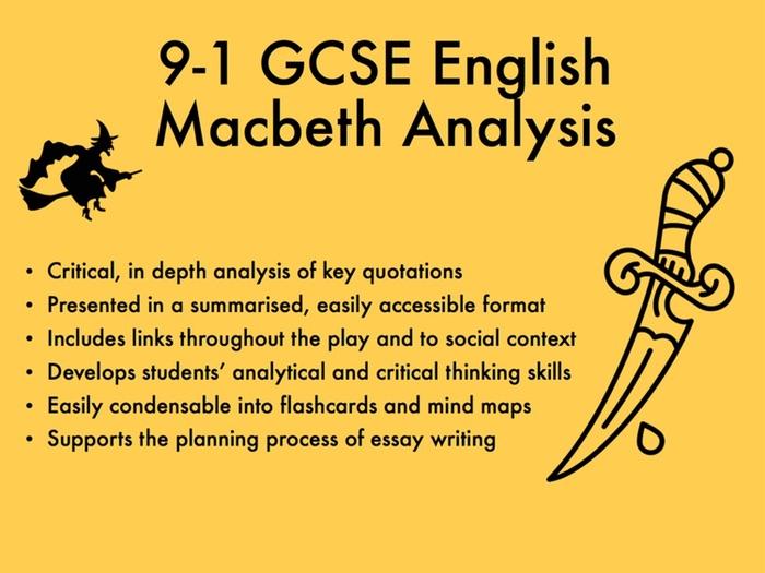 9-1 GCSE English Macbeth Analysis