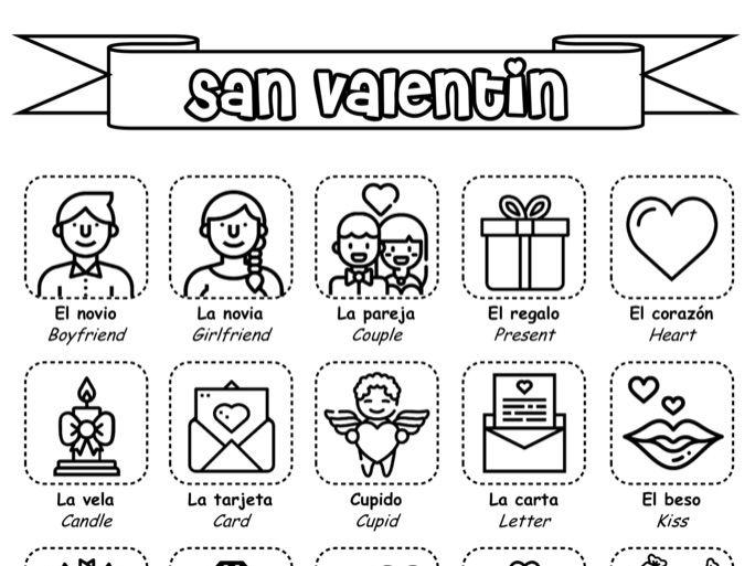 Spanish KS3 - El día de San Valentín / St. Valentines Day