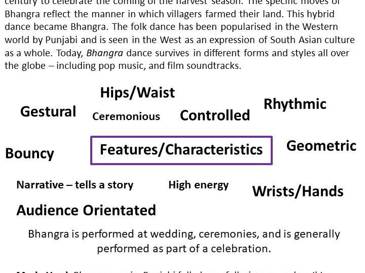 Bhangra Dance Resource Card