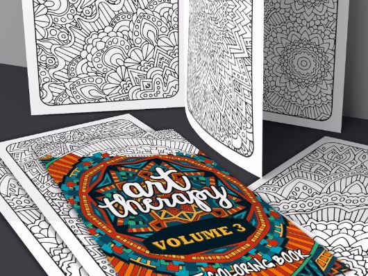 Adult Coloring Book Art Therapy Volume 3 20 Coloring Pages Printable  PDF Coloring Book Teaching Resources