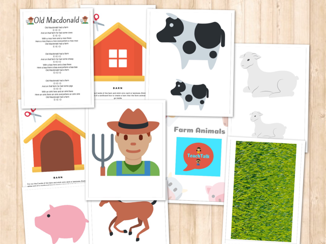 TeachTalk Farm Animals EYFS Speech and Language Session Enhancement Pack
