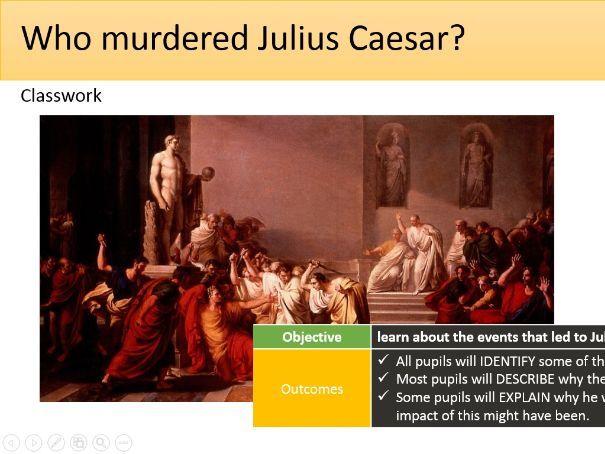 Who murdered Julius Caesar?