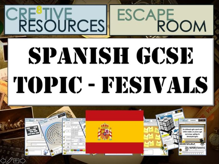 Spanish MFL Escape Room - Festivals