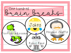 100  Colourful Brain Break Printables
