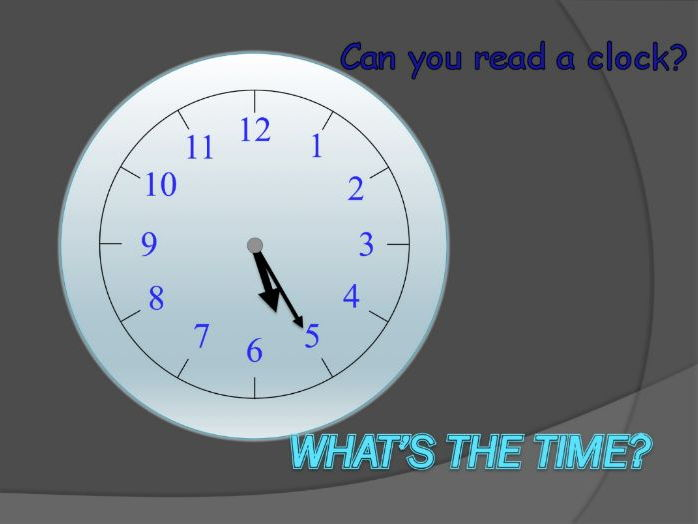ESOL simple telling the time activity - twelve clock images to read and say