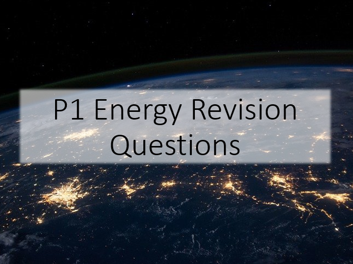 GCSE Energy Revision Questions