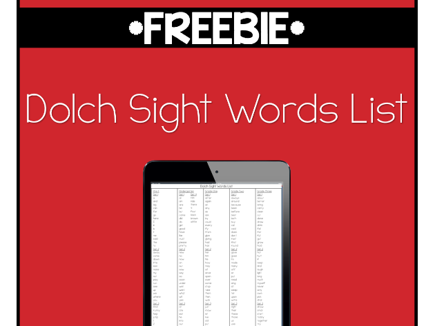 Dolch Sight Words List - Pre-K to Grade Three by rebecca