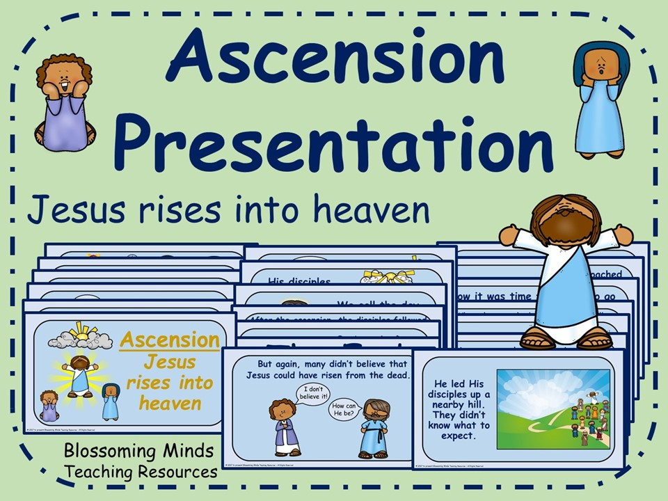 Jesus rises into heaven (ascension) presentation