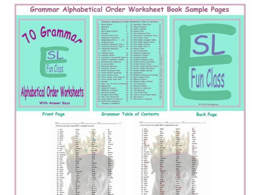 70 Grammar Alphabetical Order Worksheet Book