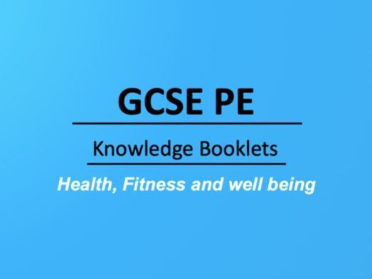 Health, Fitness and well being Knowledge Booklet