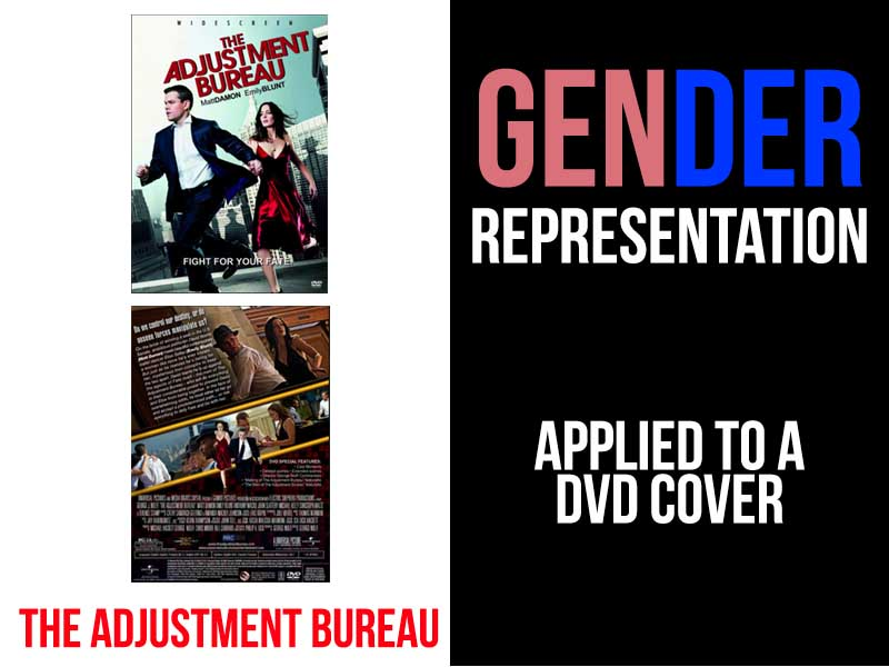 Gender representation -Applied to a DVD cover