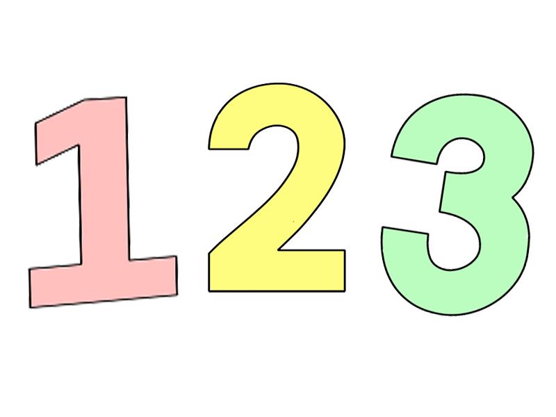 Numbers 1-12 Display