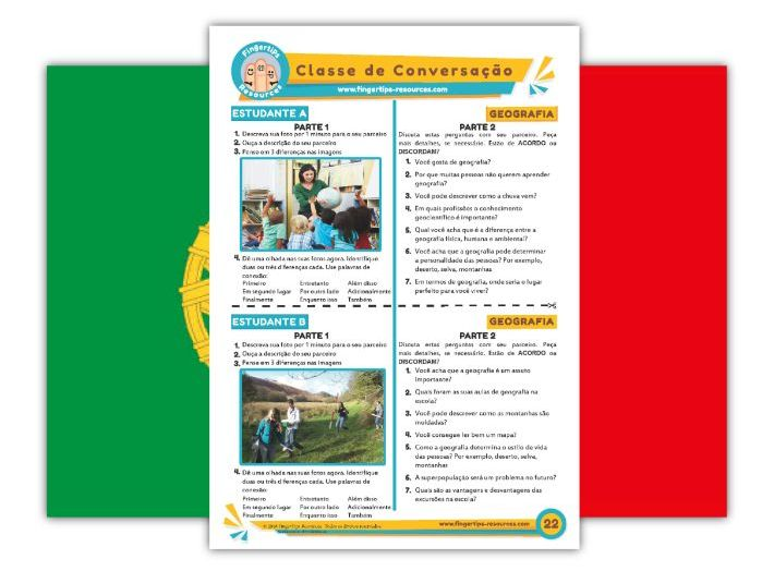 Geografi - Portuguese Speaking Activity