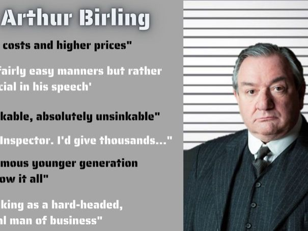 An Inspector Calls Character Quotes