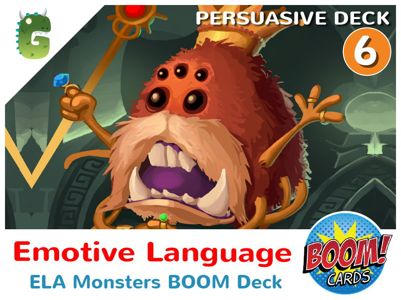 Emotive Language Boom Cards (Persuasive Language - Deck 6)