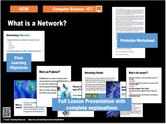 What is a Network - Introduction to Networks - Computer Science / ICT GCSE - Full lesson