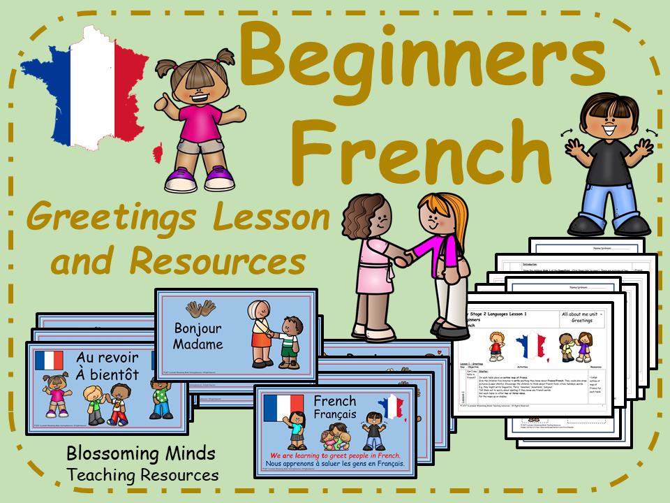 French lesson and resources - Greetings