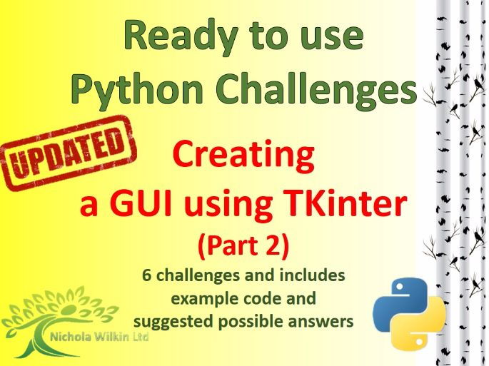 Python creating a GUI with TKinter - part 2