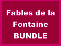 Fables de la Fontaine Cloze Listening Activities Bundle