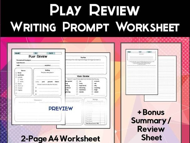 Play Review Worksheet
