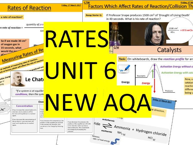 AQA Combined Science Trilogy - Chemistry Whole Unit 6 - The rate and extent of chemical change