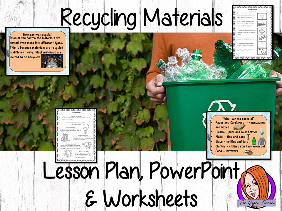 Recycling Materials  -  Complete STEAM Lesson